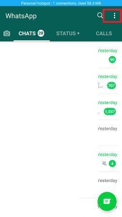 WhatsApp Home Page