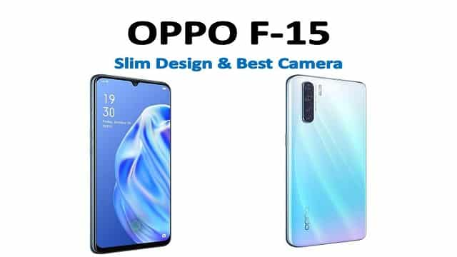 oppo f15 smartphone front look
