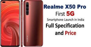 Realme X50 pro 5G Price in India