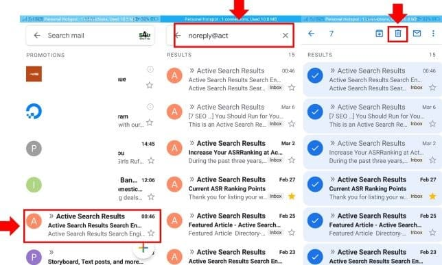 Stop spam emails using filters