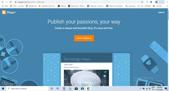 blogger-create a unique and beautiful blog